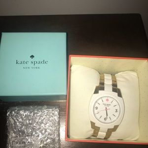 Beautiful white and gold Kate spade watch!